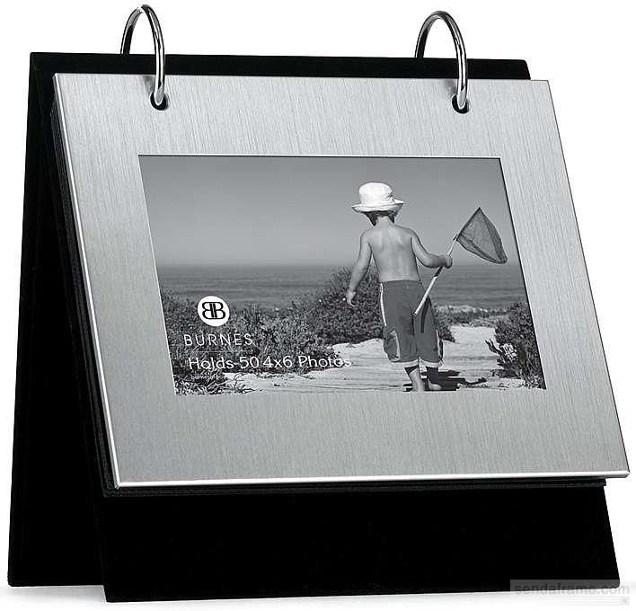 BRUSHED SILVER Flip-its® tabletop album by Burnes® - Picture Frames ...
