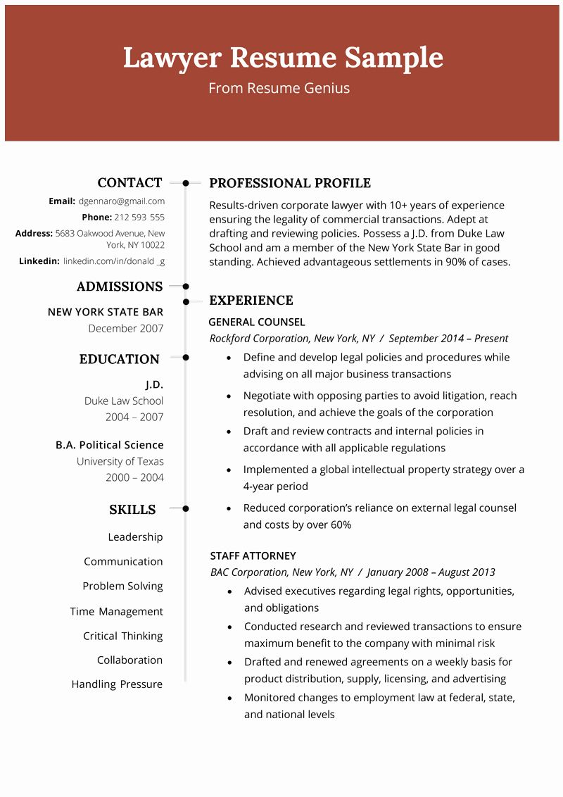 Legal Assistant Resume Example Fresh Lawyer Resume Sample Writing Tips Resume Examples Good Resume Examples Job Resume Examples