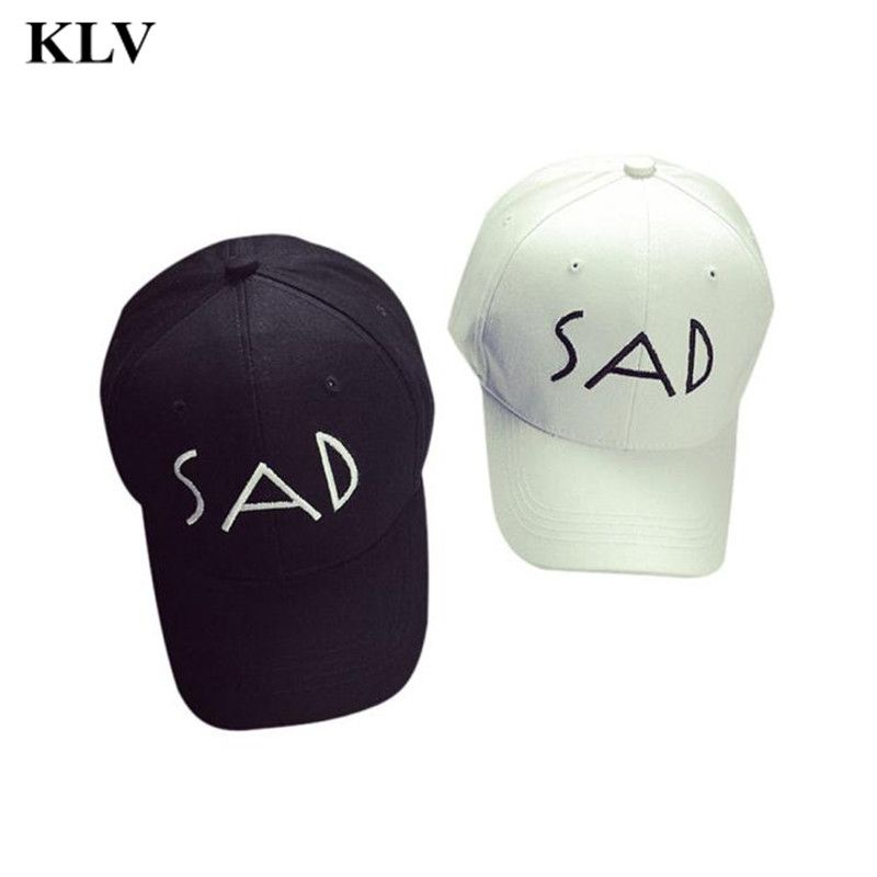 Unisex Cotton Embroidery Letter SAD Baseball Cap Snapback Caps Bone Sports Hat Distressed Wearing Style Outdoor Hat Dec13