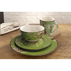 @Overstock - The Waverly dinnerware features the timeless florals and classic patterns in a traditional  sc 1 st  Pinterest & Overstock - The Waverly dinnerware features the timeless florals and ...