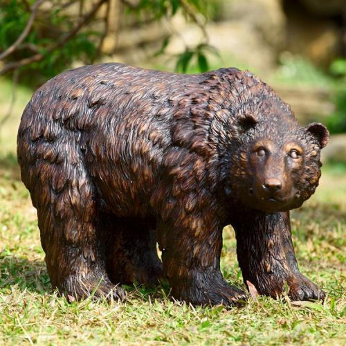 We Captured The Spirit Of The Wild In This Majestic Bear Garden Statue,  Perfect For The Edge Of A Pool Or Pond. Our Bear Statue Is Cast In Quality  Designer ...
