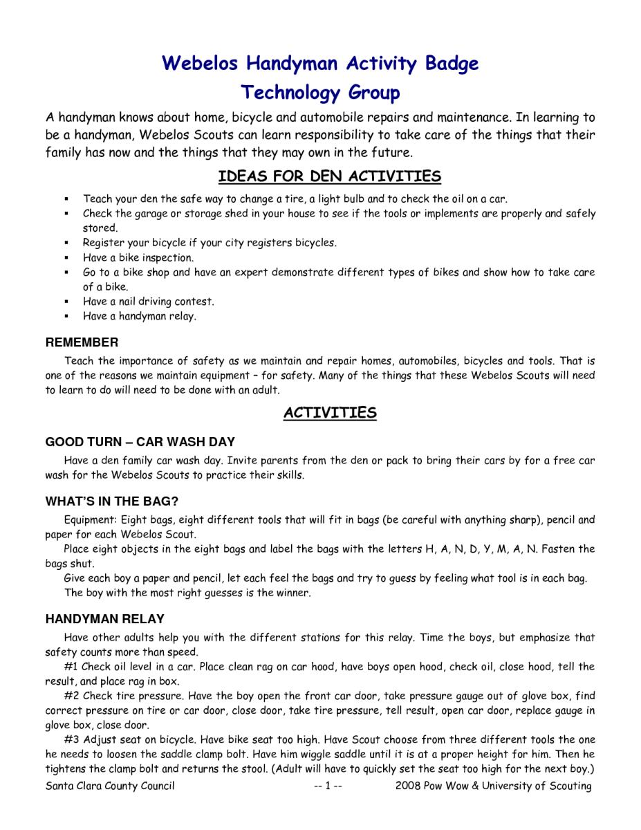 sample resume for handyman position