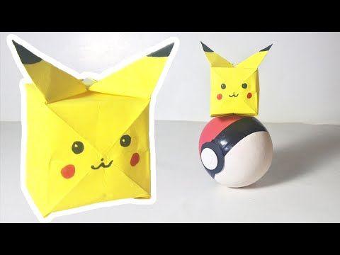 Pokemon Go How To Fold Pikachu Easy Origami Pokeball Origami