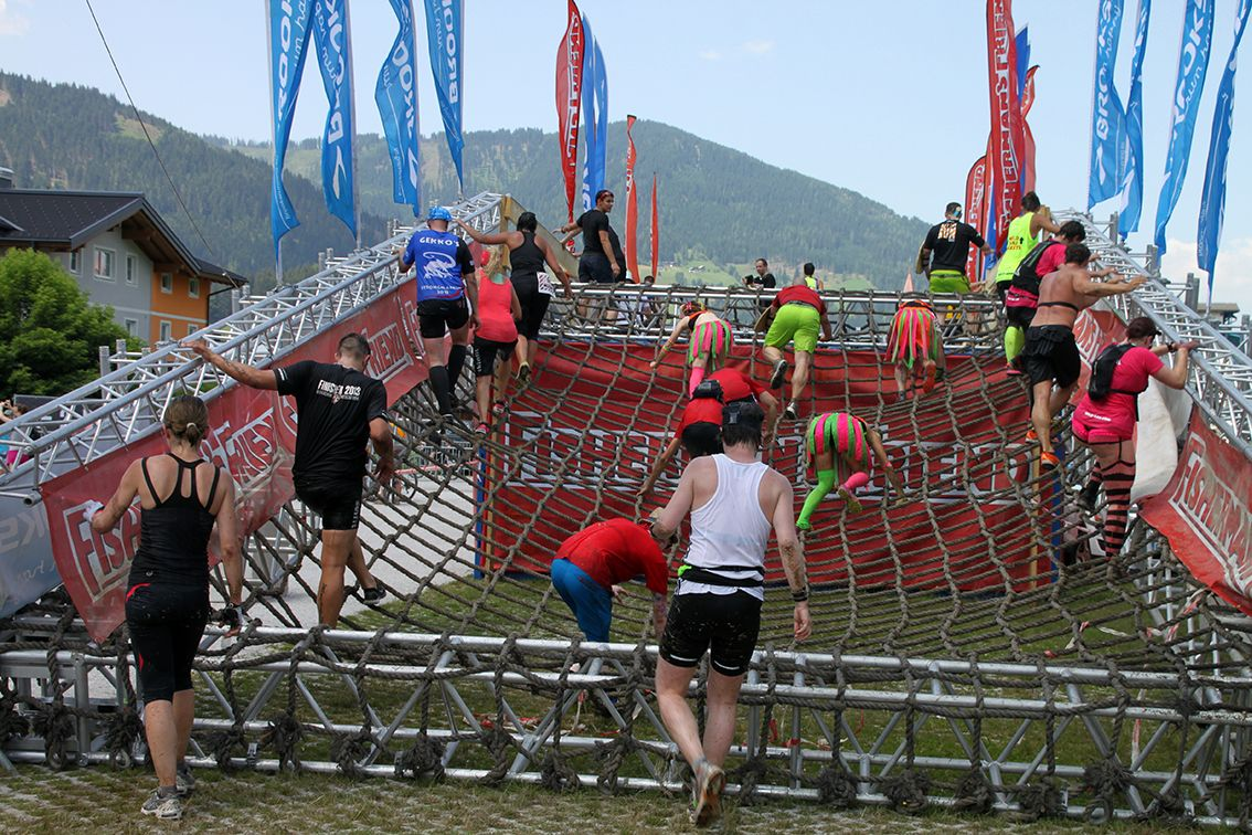 Trotz heißer Temperaturen wurde ein cooler Event durchgeführt #strongmanrun #flachau