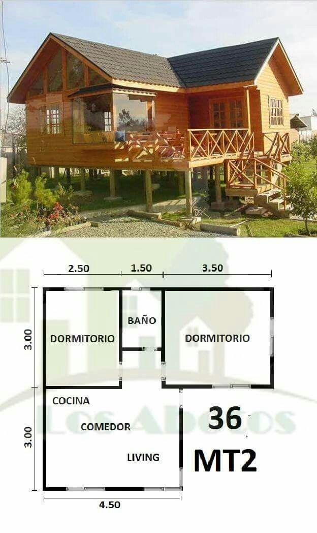 Modelo techo | Campo | Casas, Casas pequeñas y Casas ...