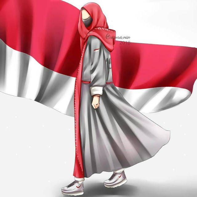Kartun Muslimah Cantik Jutaan Gambar Anime Muslim Hijab Cartoon Islamic Girl