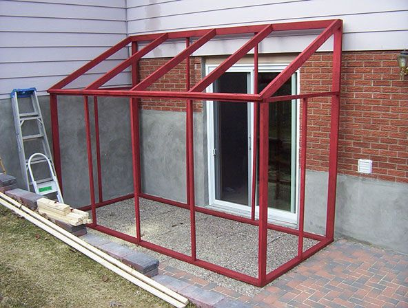 Diy temporary sun room with plastic shower curtain for Portable window curtain