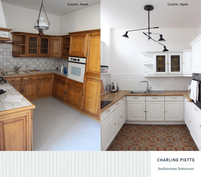 Poign es cuisine avant apr s recherche google - Relooking salle a manger rustique ...