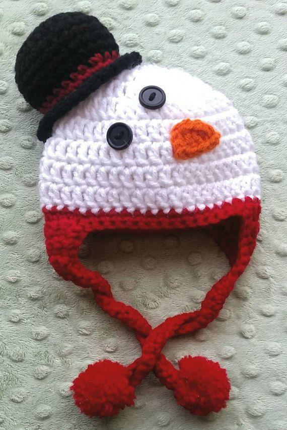 Baby Snowman Crochet Hat