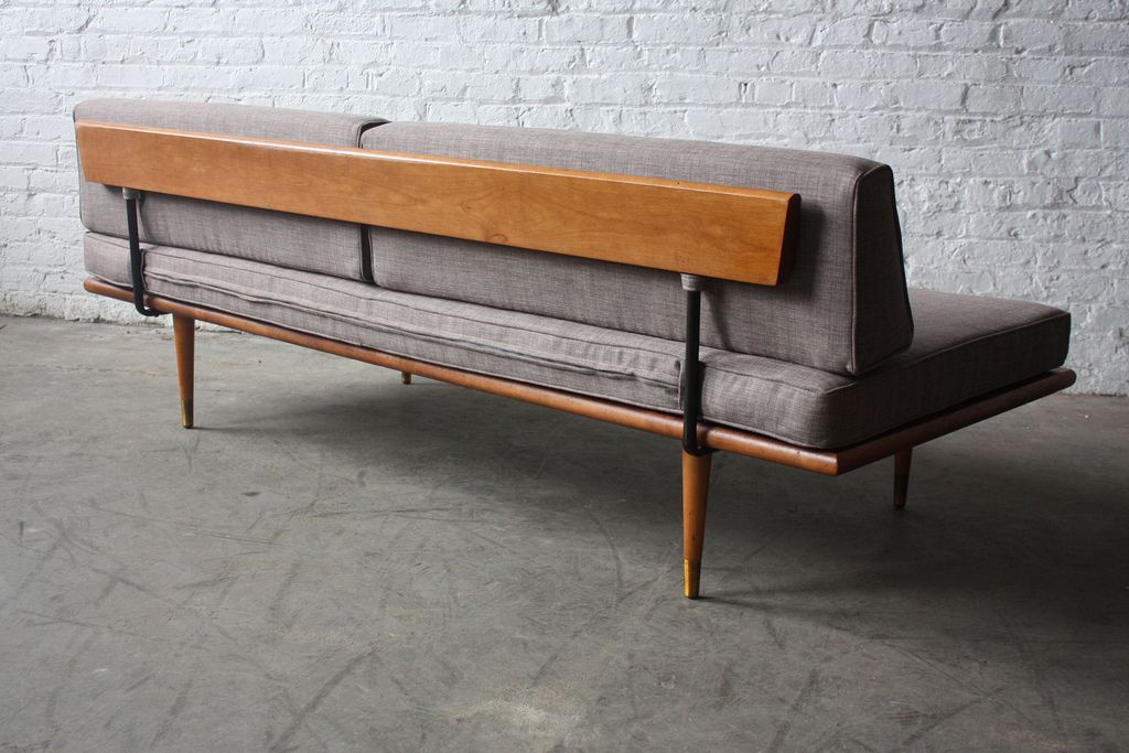 Assured Mid Century Modern Daybed Sofa U S A 1960s Sofa Design Mid Century Furniture Mid Century Modern Daybed