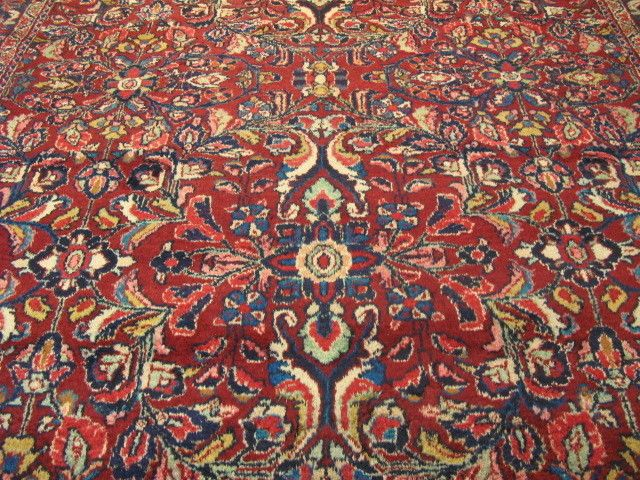 c1950s AUTHENTIC 100% WOOL FINE ANTIQUE FLORAL PERSIAN SAROUK RUG 7.5x10.0 #Floral