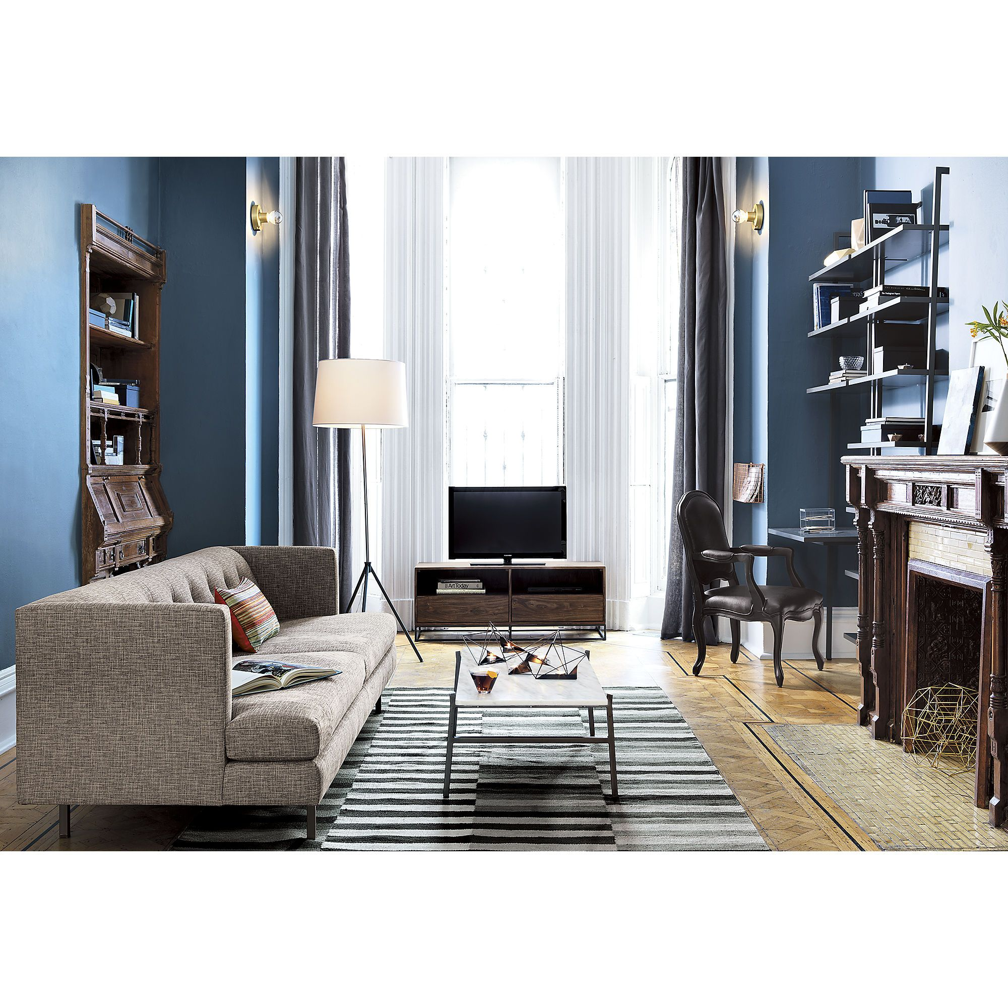 Tv In Front Of Window Perpendicular To Sofa