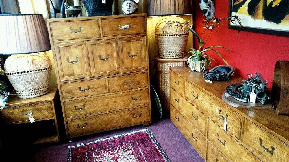 HENREDON Artefacts Campaign Style Bedroom 2 Dresser 1