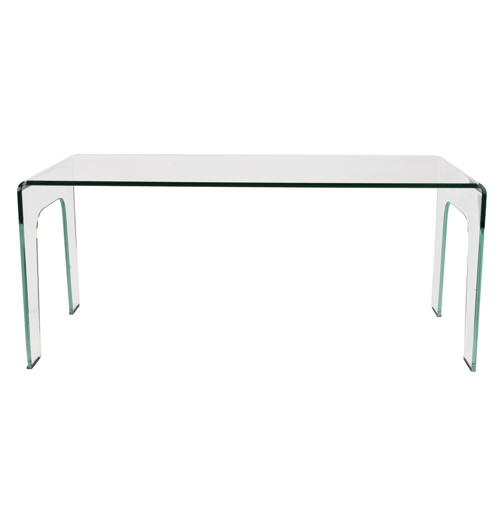 York Curved Glass Dining Table By Unknown