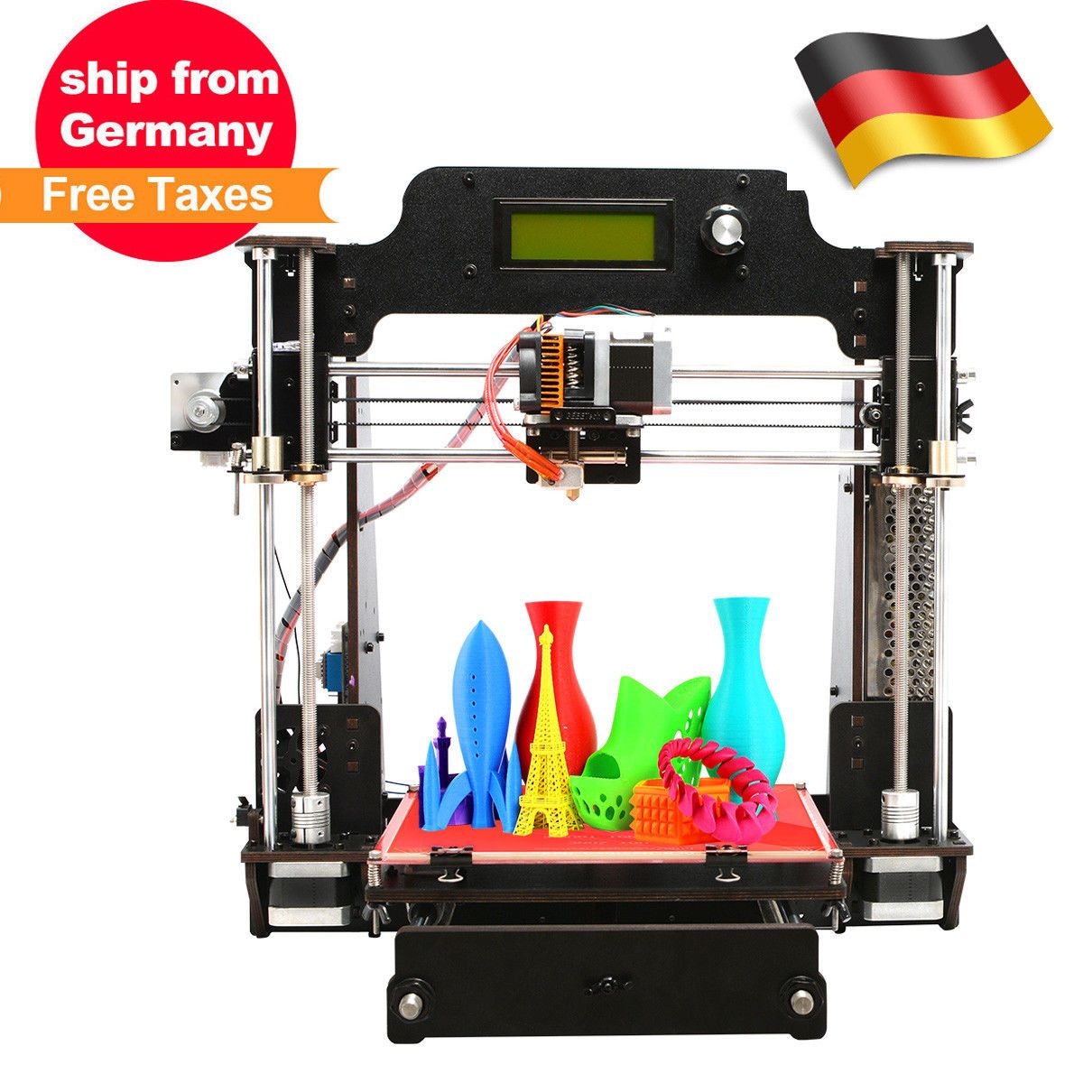 Deutschland Warenhaus GEEETECH 3d Drucker Pro W upgraded high print ...