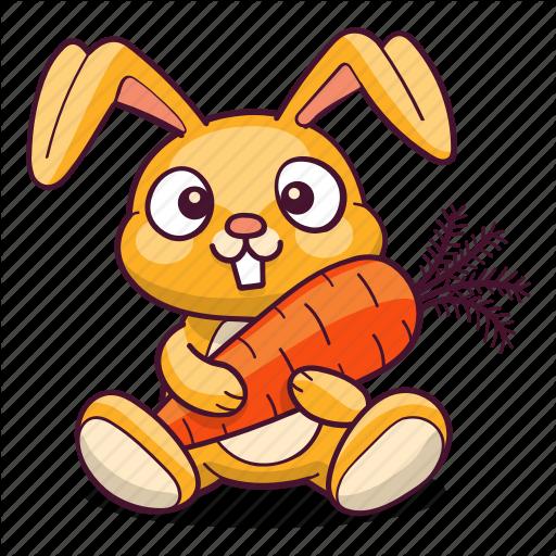 Bunny Carrot Hare Rabbit Icon Di 2020