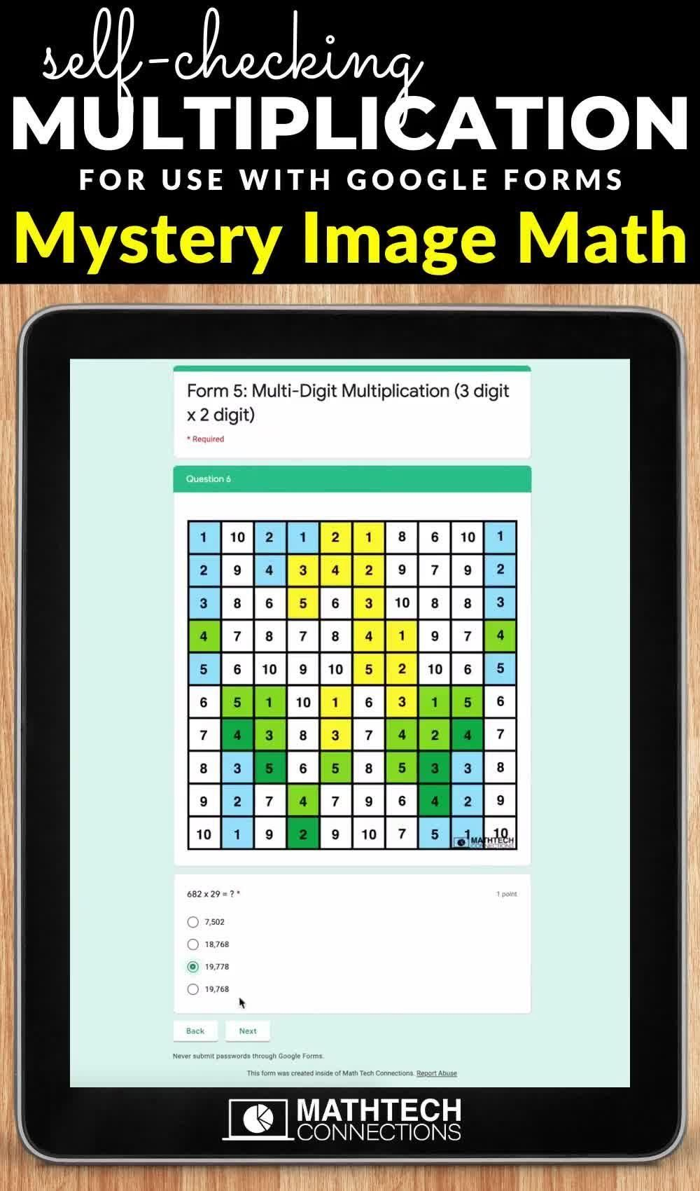 Fall Digital Math Mystery Picture Multi Digit Multiplication Google Forms Video In 2020 Math Forms Math Mystery Picture Math Mystery