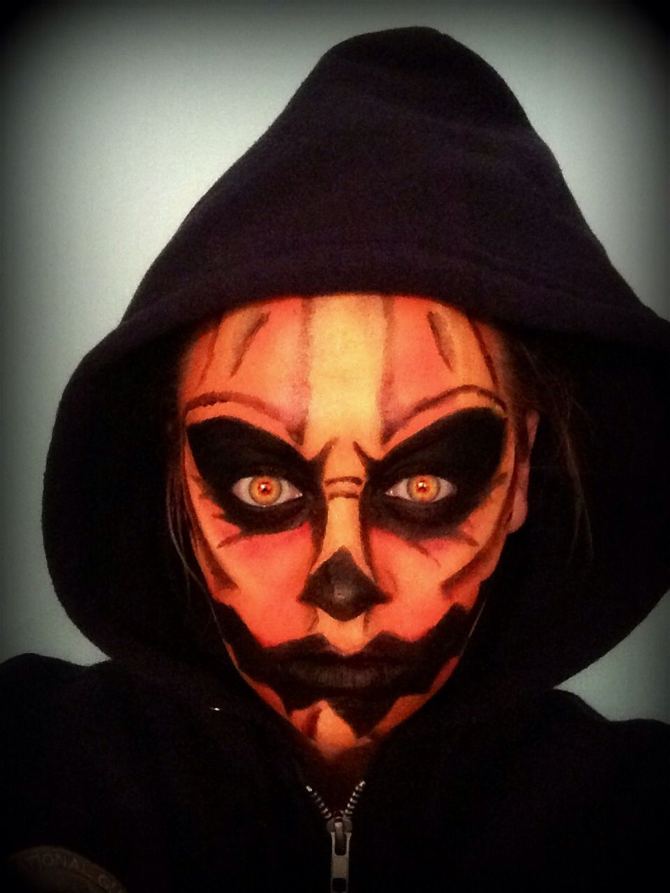 Pumpkin Face Halloween makeup Halloween makeup scary