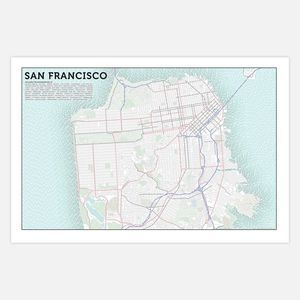 San Francisco Typographic Topography Axis Maps Maps