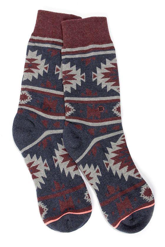 Stance Nu Native Denim Blue Southwest Print Socks at LuLus.com!
