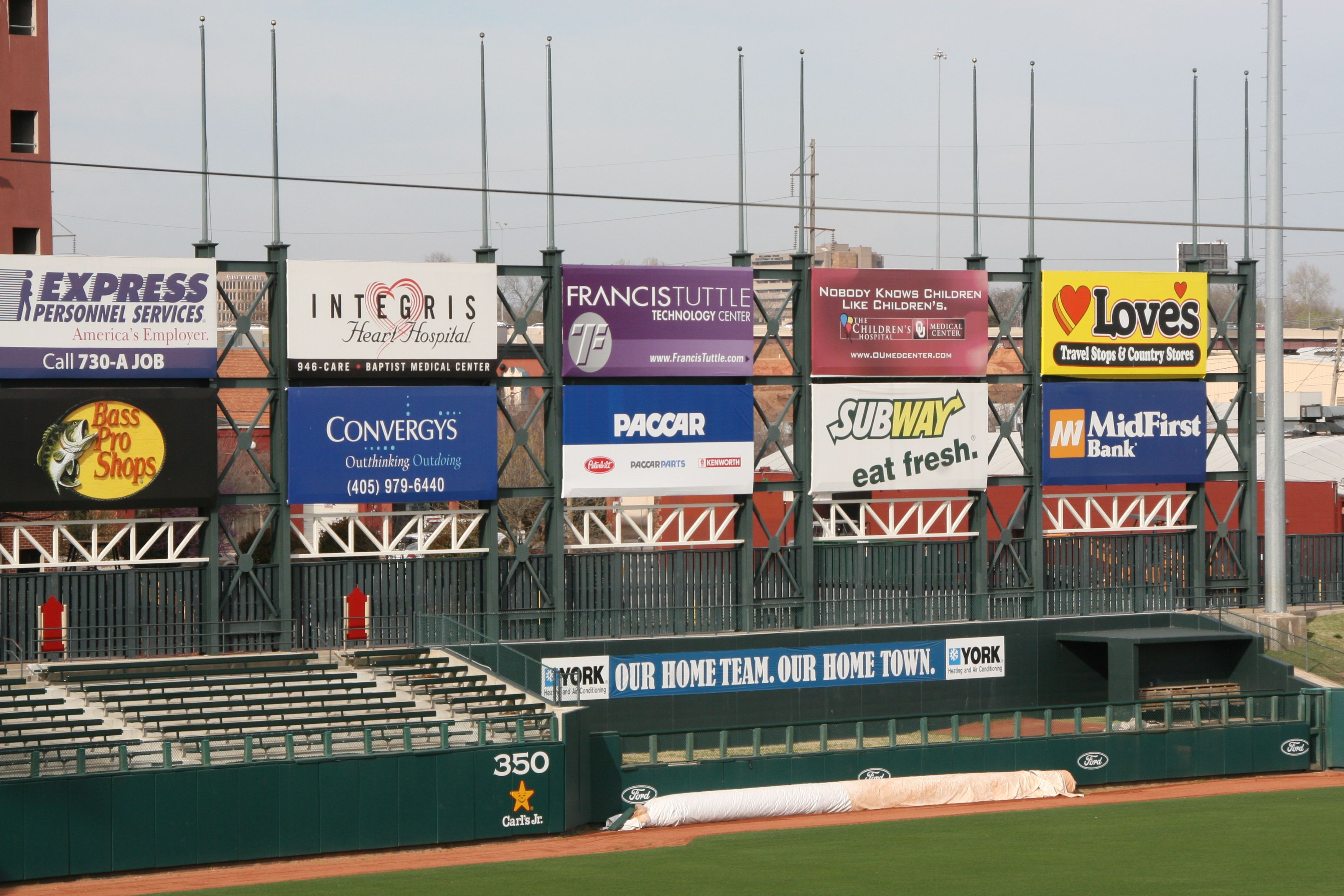 Outfield Wall Banners Sponsor Signage Advertising Signs