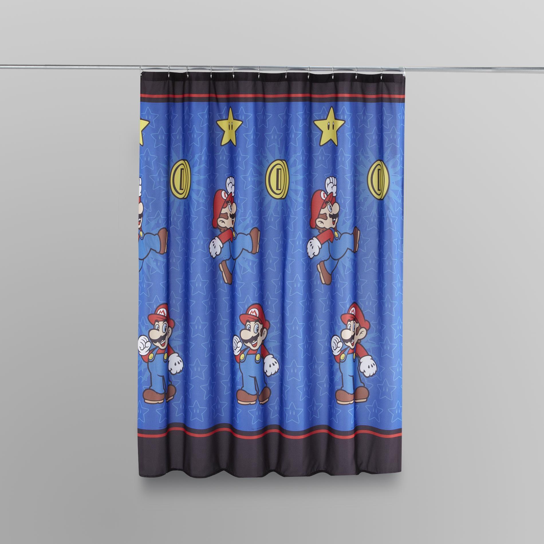Nintendo Super Mario Shower Curtain   Bed Bath   Shower Curtains Accessories    Shower Curtains Liners