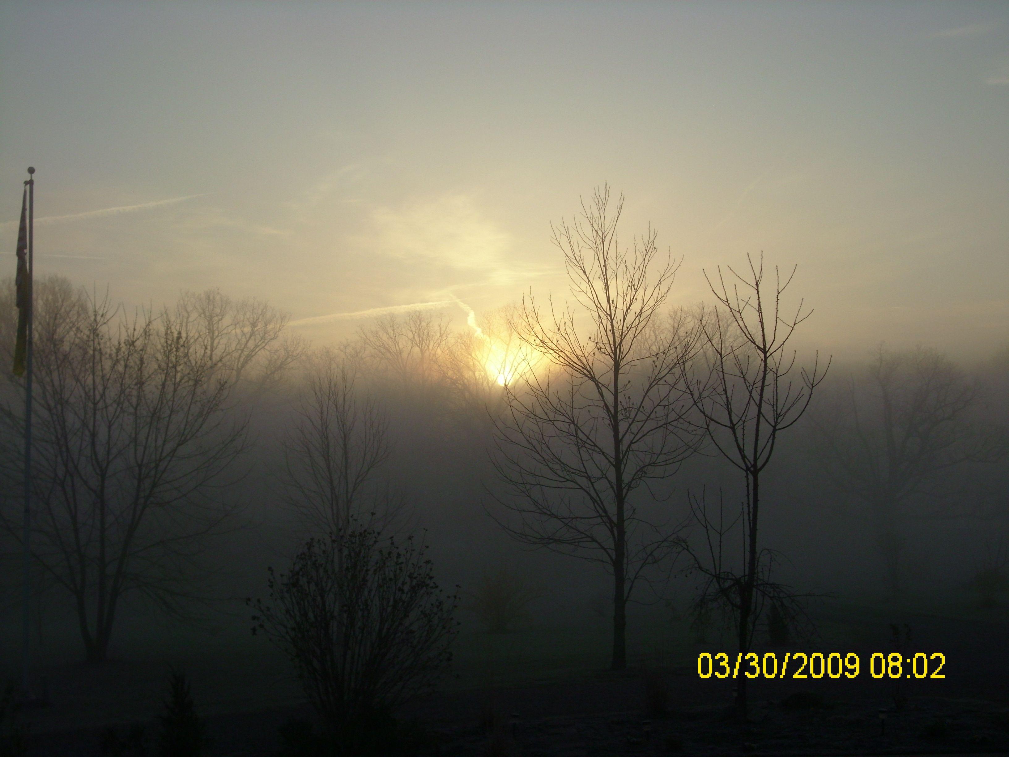 Foggy sunrise foggy sunrise photo
