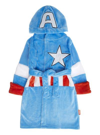 12. Boys Blue Disney Marvel Captain America Dressing Gown (3-12 ...
