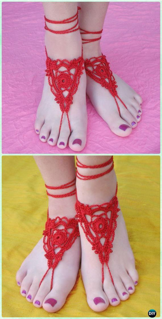 Crochet Goddess Barefoot Sandals Free Pattern Crochet Women