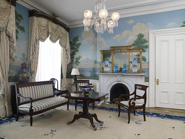 Jackson Place Sitting Room Blair House Located Across From The