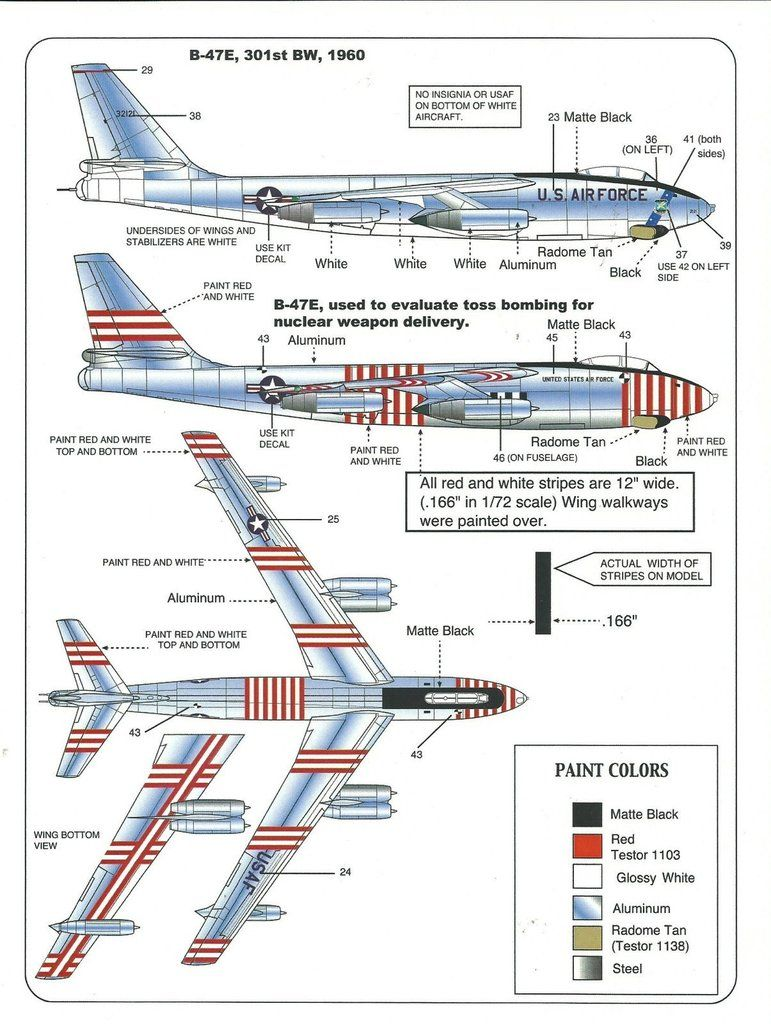 Warbird 5 Options, B-47B, B-47E , 1000th Stratojet Decals