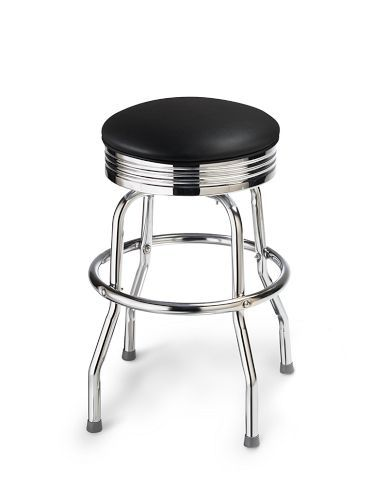 Black Chrome Bar Stool From Williams Sonoma This 24 Inch