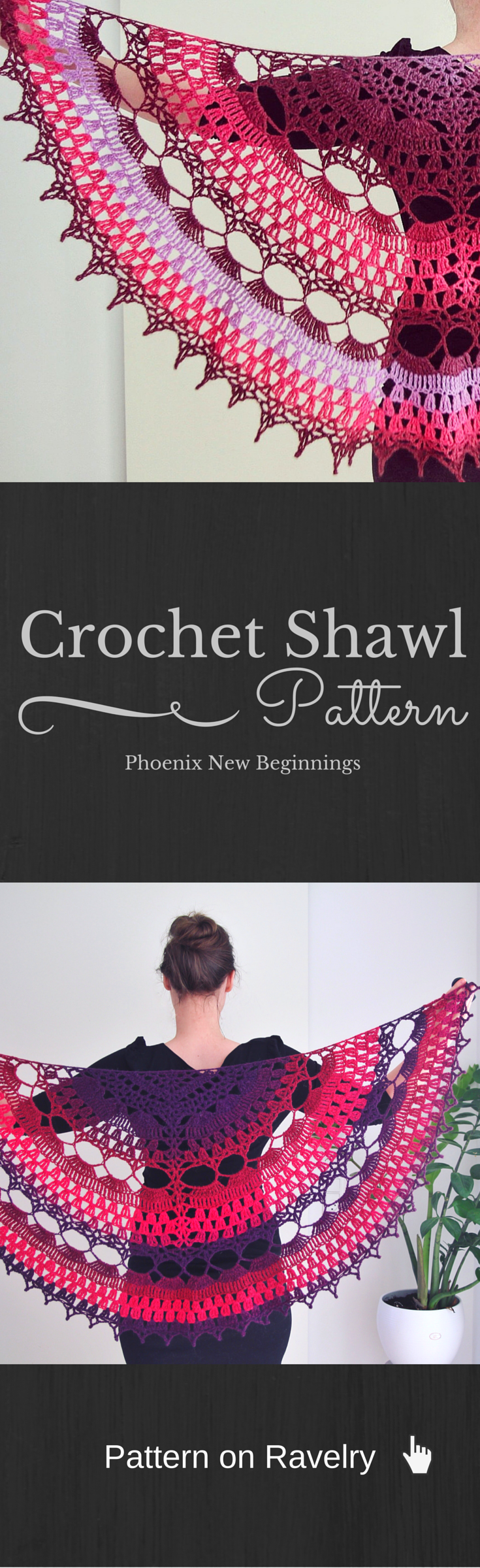 Phoenix New Beginnings pattern by Elena Madsen   Chal, Tejido y Ponchos