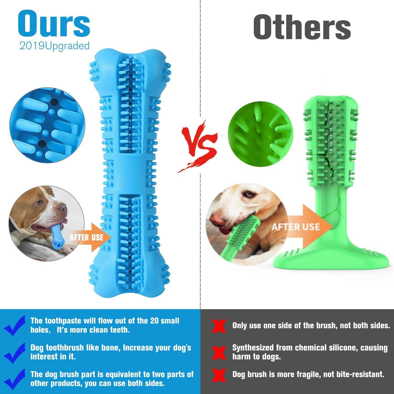 Chooseen Dog Toothbrush Stick Upgraded Dog Chew Toys Bone Bite
