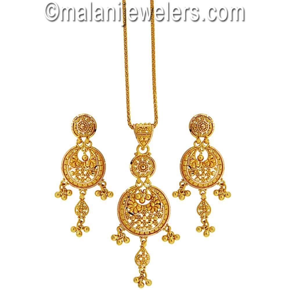 karat gold adorable pendant set zevar pinterest pendant set