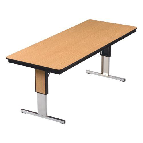 Kitchen Table Top Material: Midwest TL Series T Leg Plywood Core Conference Table