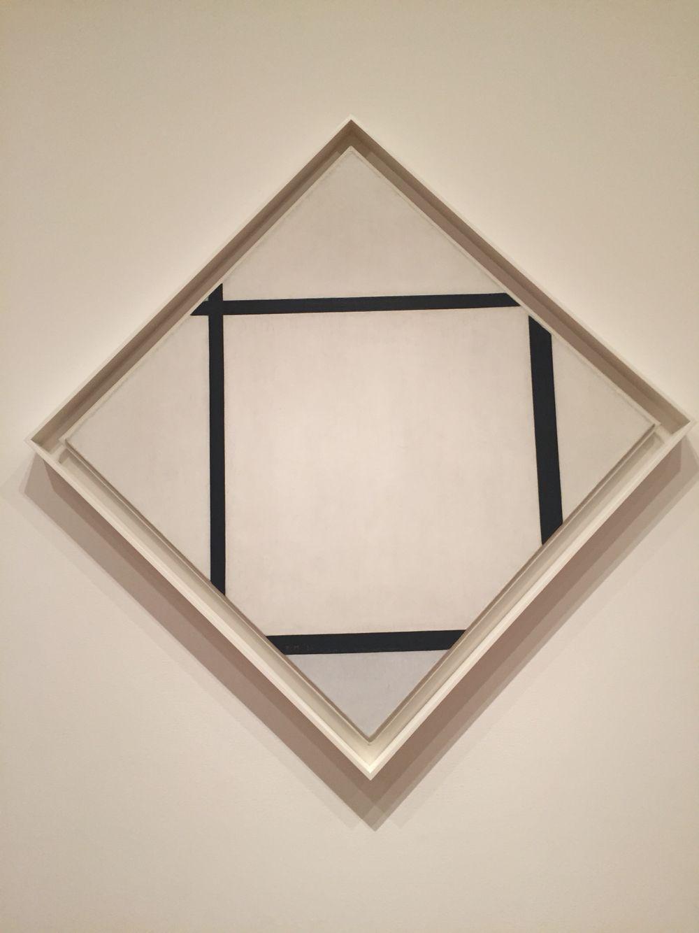 Tableau I Lozenge With Four Lines And Gray Piet Mondrian Museum Of Modern Art Piet Mondrian Piet