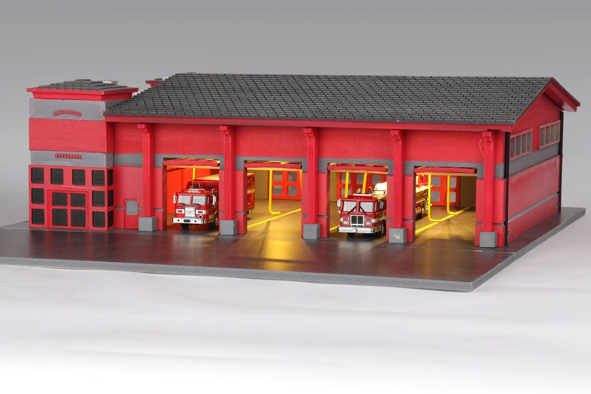 Fire Station Diorama Google Search School Crafts