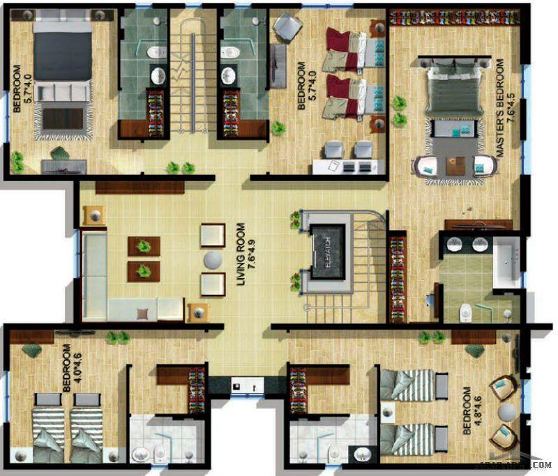 نموذج فيلا ليلي غرفة نوم رئيسية مع حمام أربع غرف نوم مع حمام Arab Arch Classic House Exterior House Layouts House Styles