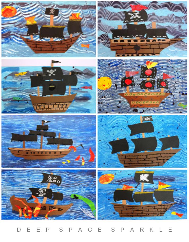 Pirate Ship Art Lesson for Fourth Grade | Pinterest | Ship art ...