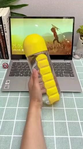 Water Bottle Combine Daily Pill Box Organizer