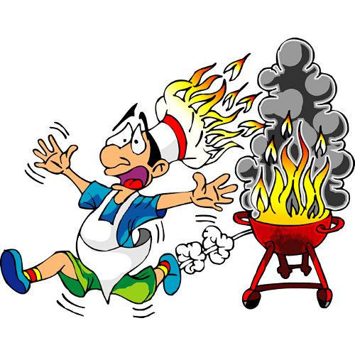 BBQ Cartoon Funny Barbecue Clipart Labor Day Weekend Free - Backyard bbq party cartoon