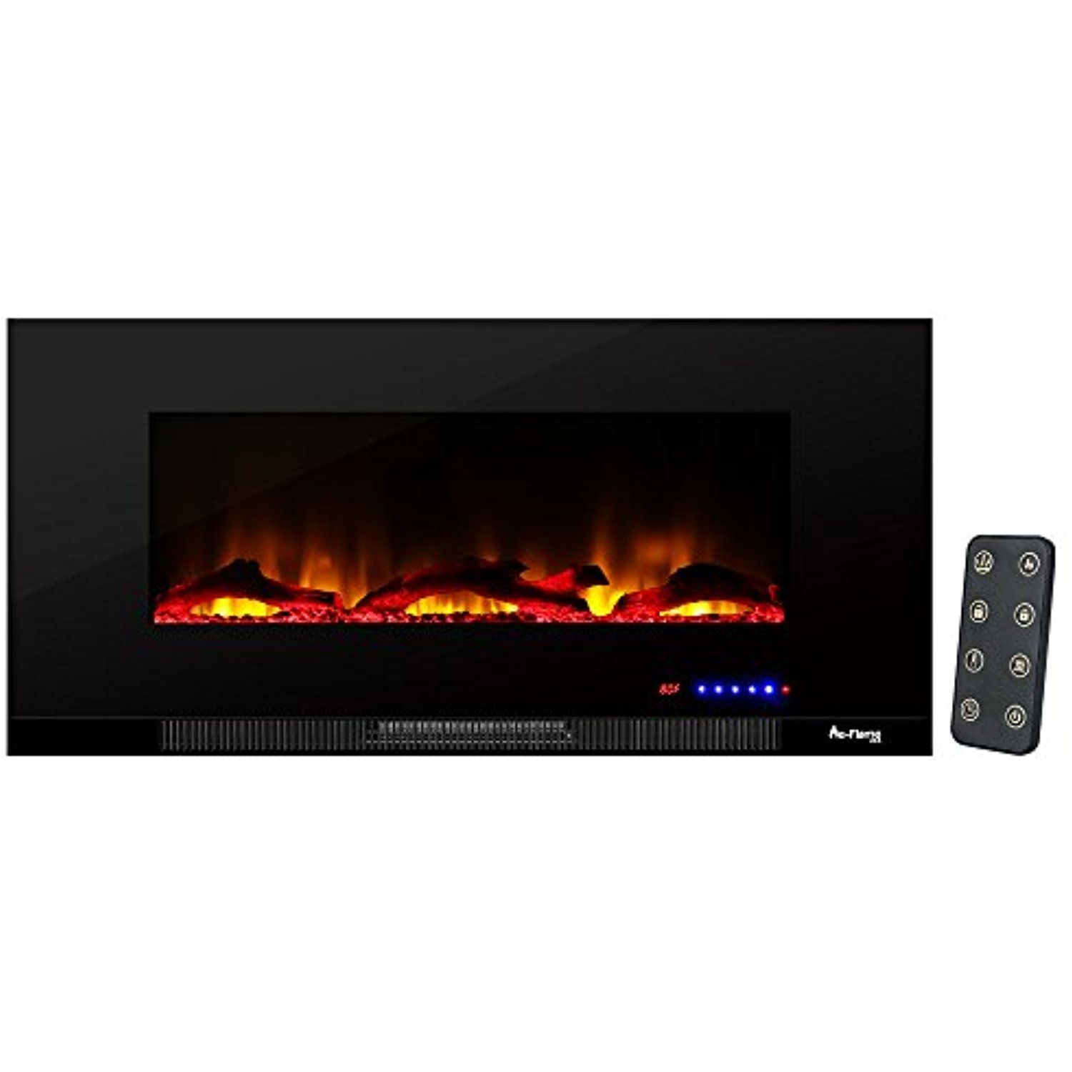 Livingston Ultra Slim Led Wall Mount Electric Fireplace By E Flame