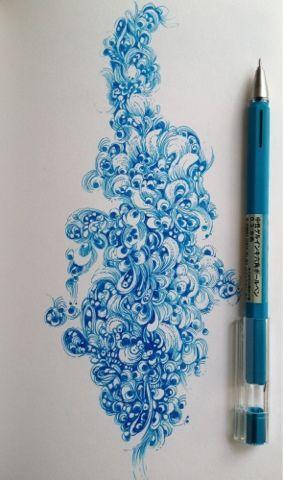 Gel pen patterning by Gentian Osman