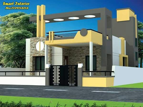 Single Floor Design Ajay In 2019 House Elevation House Single