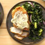Almond Pork Chops with Honey Mustard #cabbagestirfry