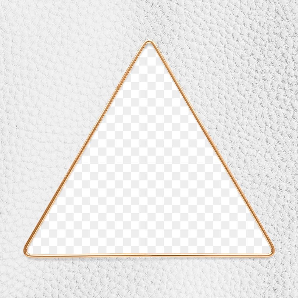 Triangle Gold Frame On A White Leather Textured Background Design Element Free Image By Rawpixel Com Gade Leather Texture Gold Frame Nail Logo