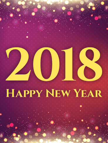 shiny purple happy new year card 2018 if you need an elegant alluring new year card to send this is the card for you varying shades of purple pink