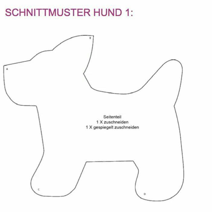 Fantastic Hund Schnittmuster Sketch - Decke Stricken Muster ...