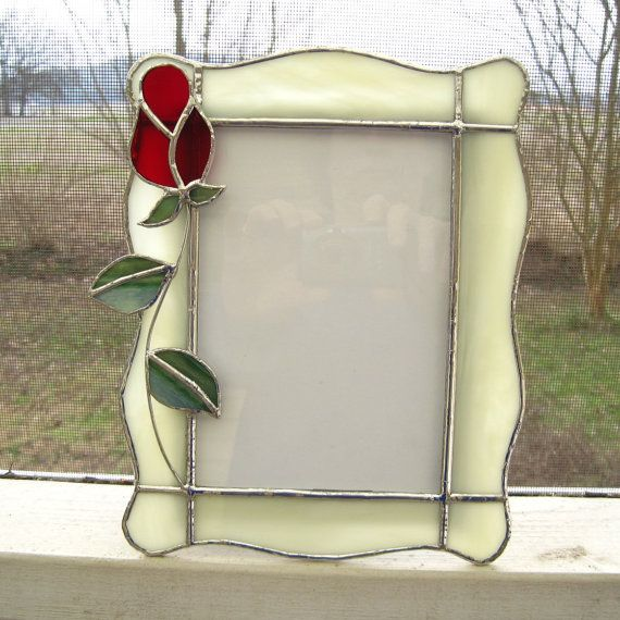 Love You Truly 5 x 7 Stained Glass Picture Frame